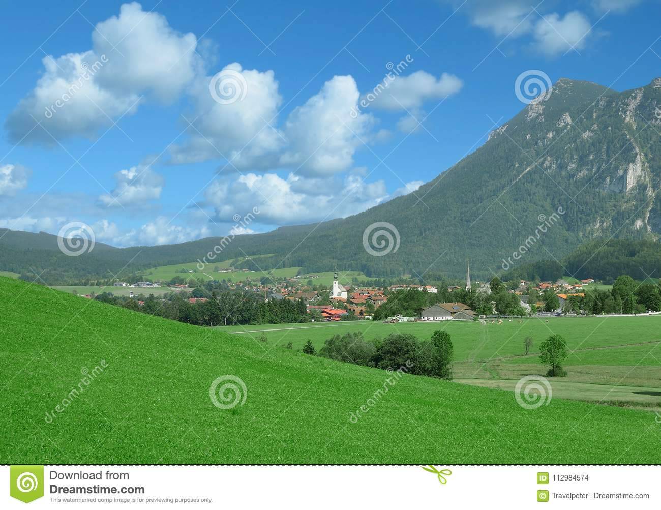 Village of Inzell,Chiemgau,upper Bavaria,Germany