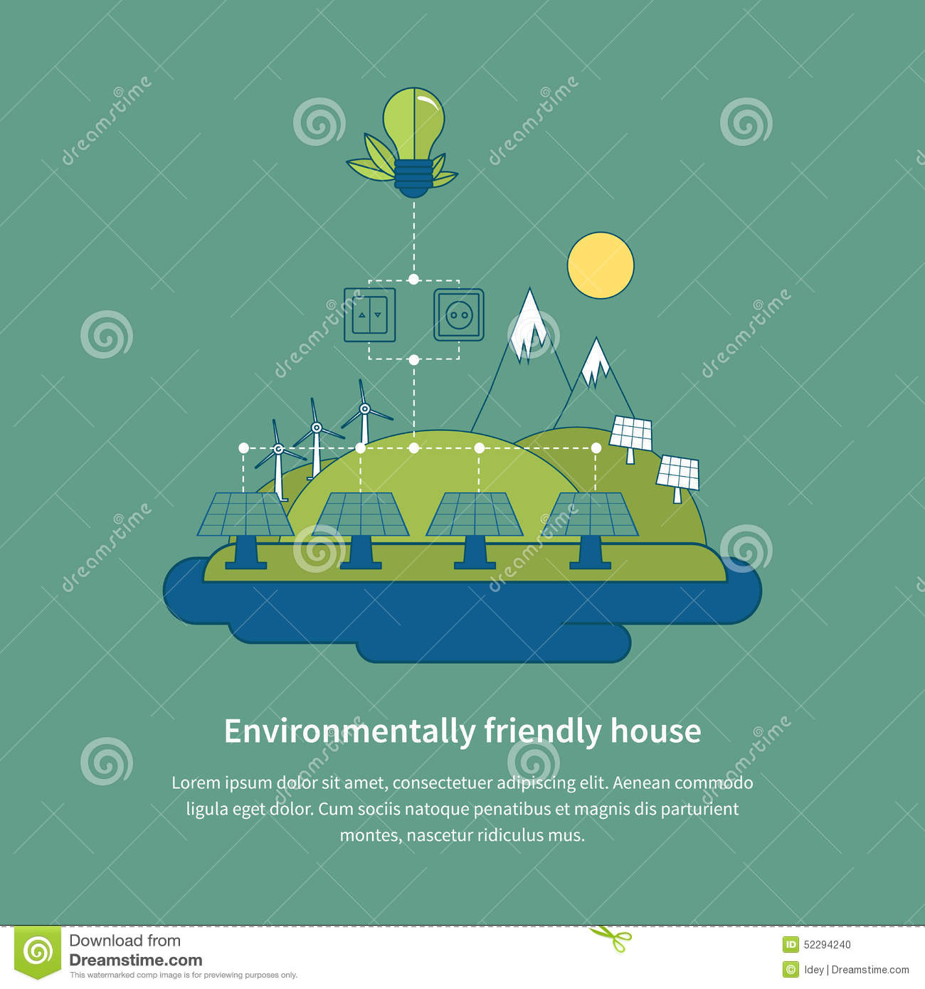 Village landscape environmentally friendly house stock for Eco friendly water systems for homes