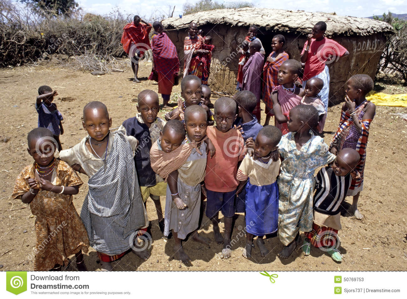 Village Life Of Maasai People In Kenya Editorial Stock