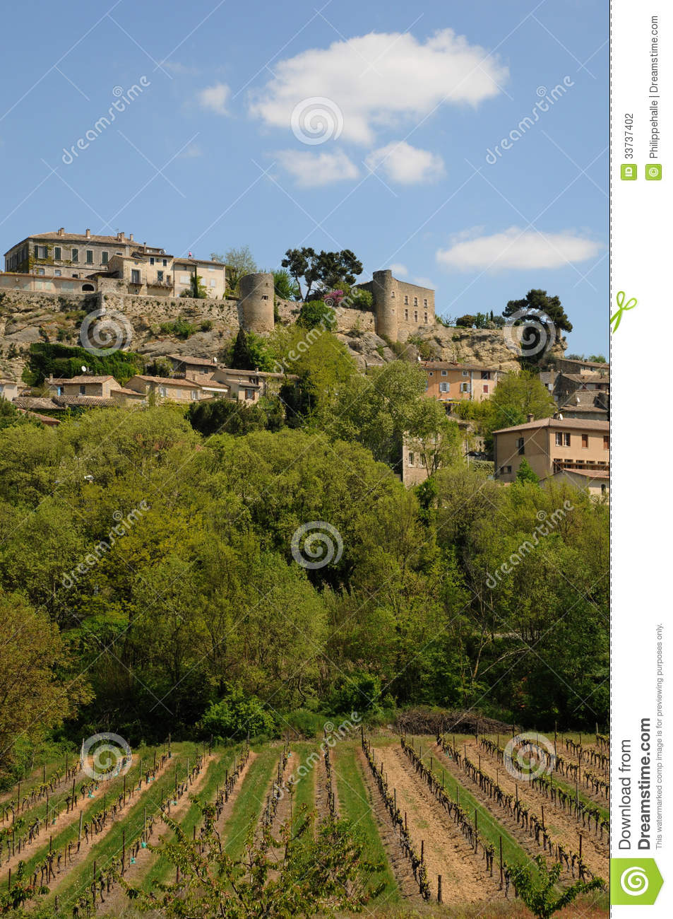 Village of Menerbes in Provence
