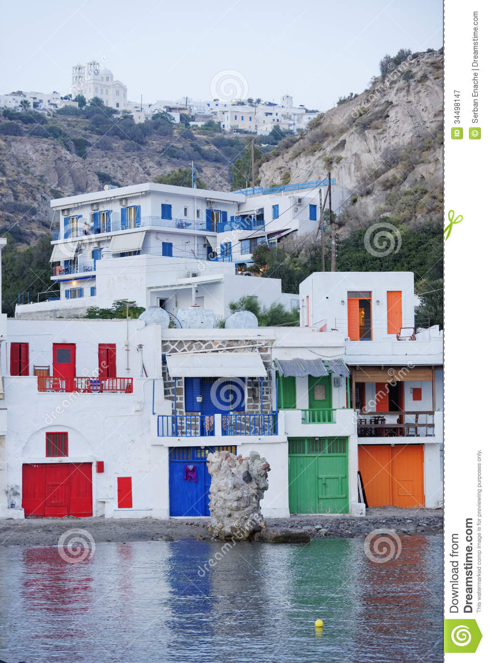 Village On Milos Island In Greece Royalty Free Stock