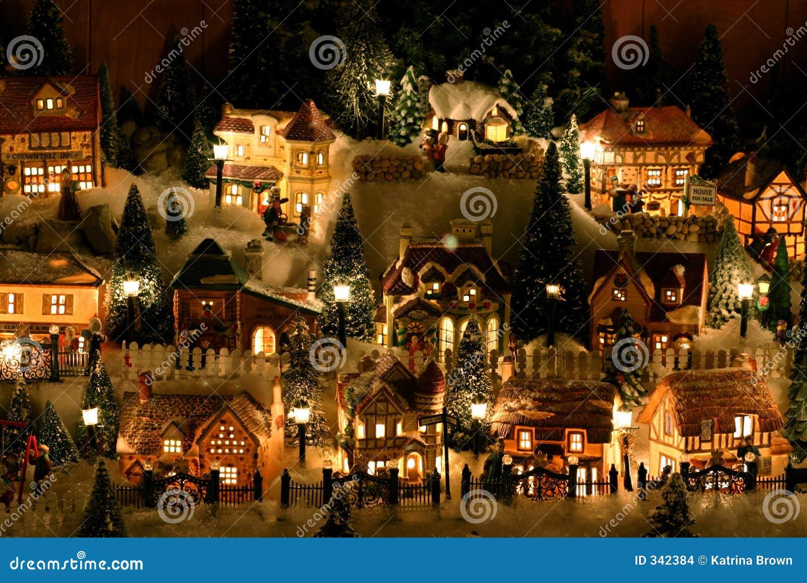 Village miniature de Noël