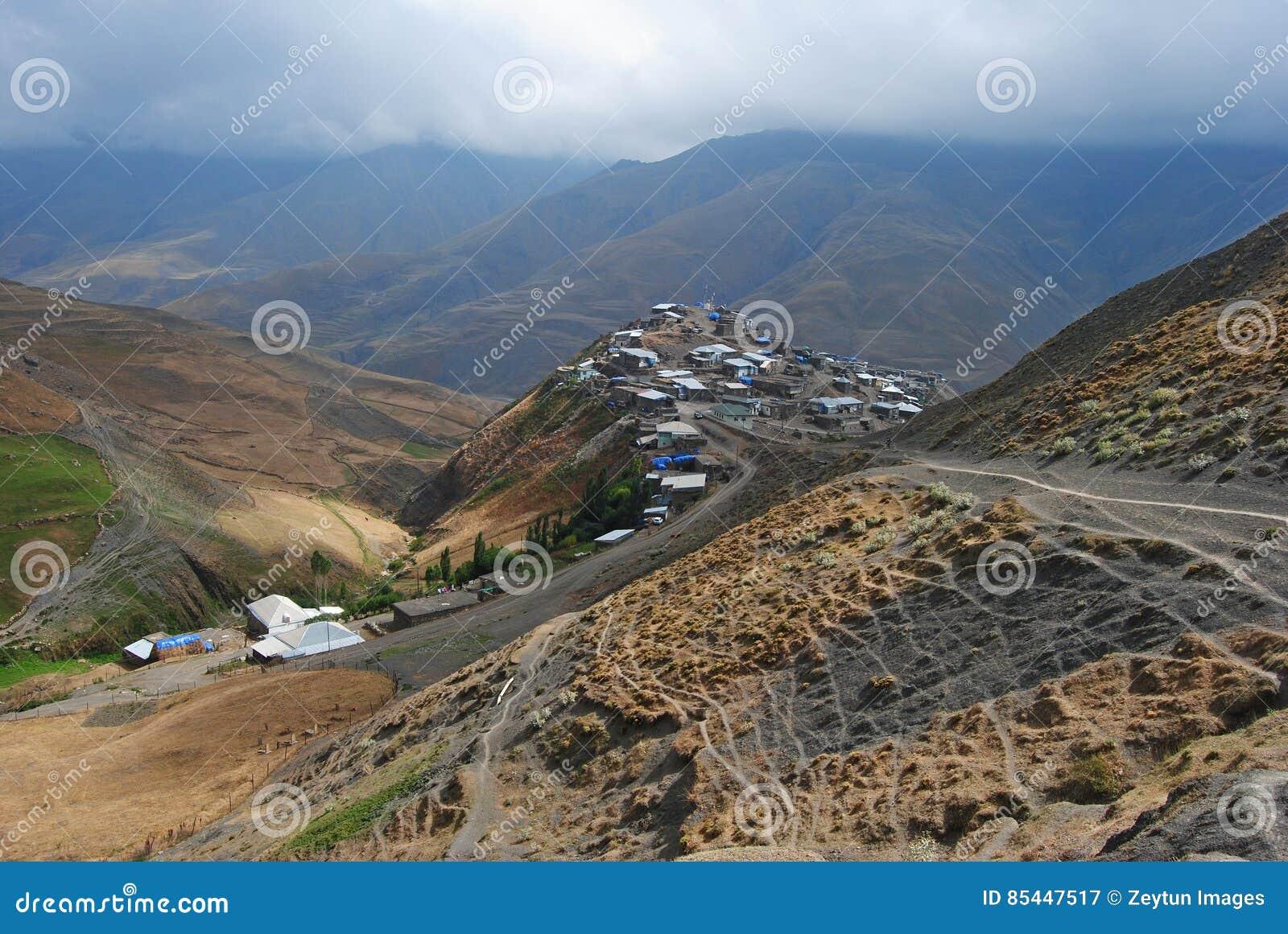 Village montagneux de Xinaliq en Azerbaïdjan