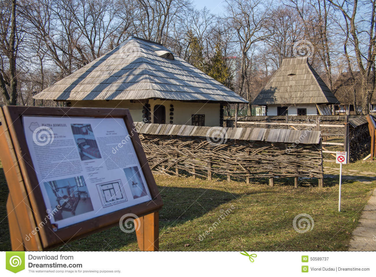 Village museum bucharest editorial photography image 50589737 - Romanian peasant houses ...