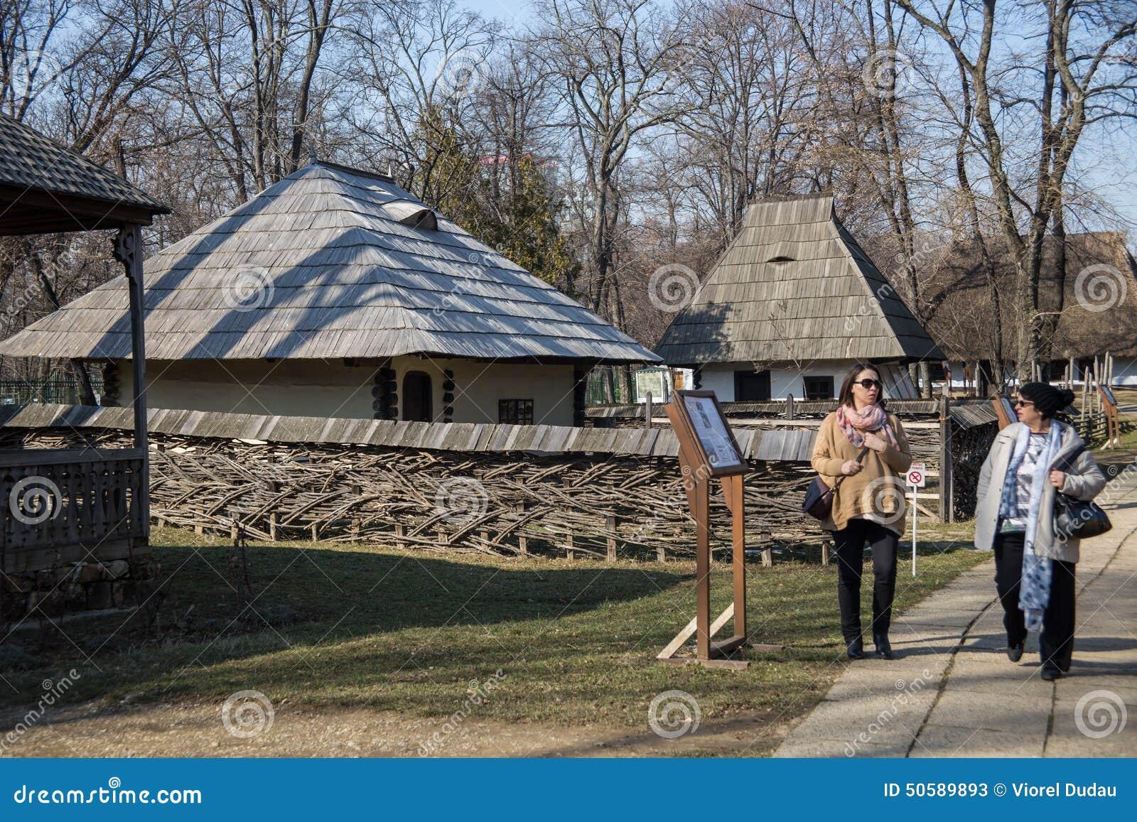 Village museum bucharest editorial stock photo image 50589893 - Romanian peasant houses ...