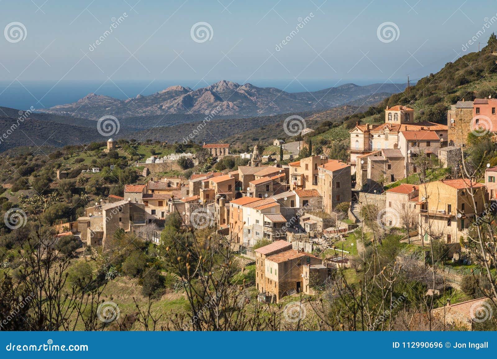 Village of Novella in Balagne region of Corsica