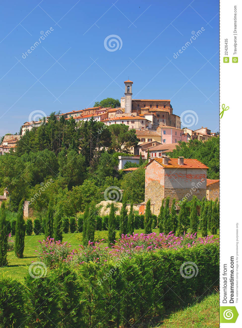 Village pittoresque en Ombrie, Italie