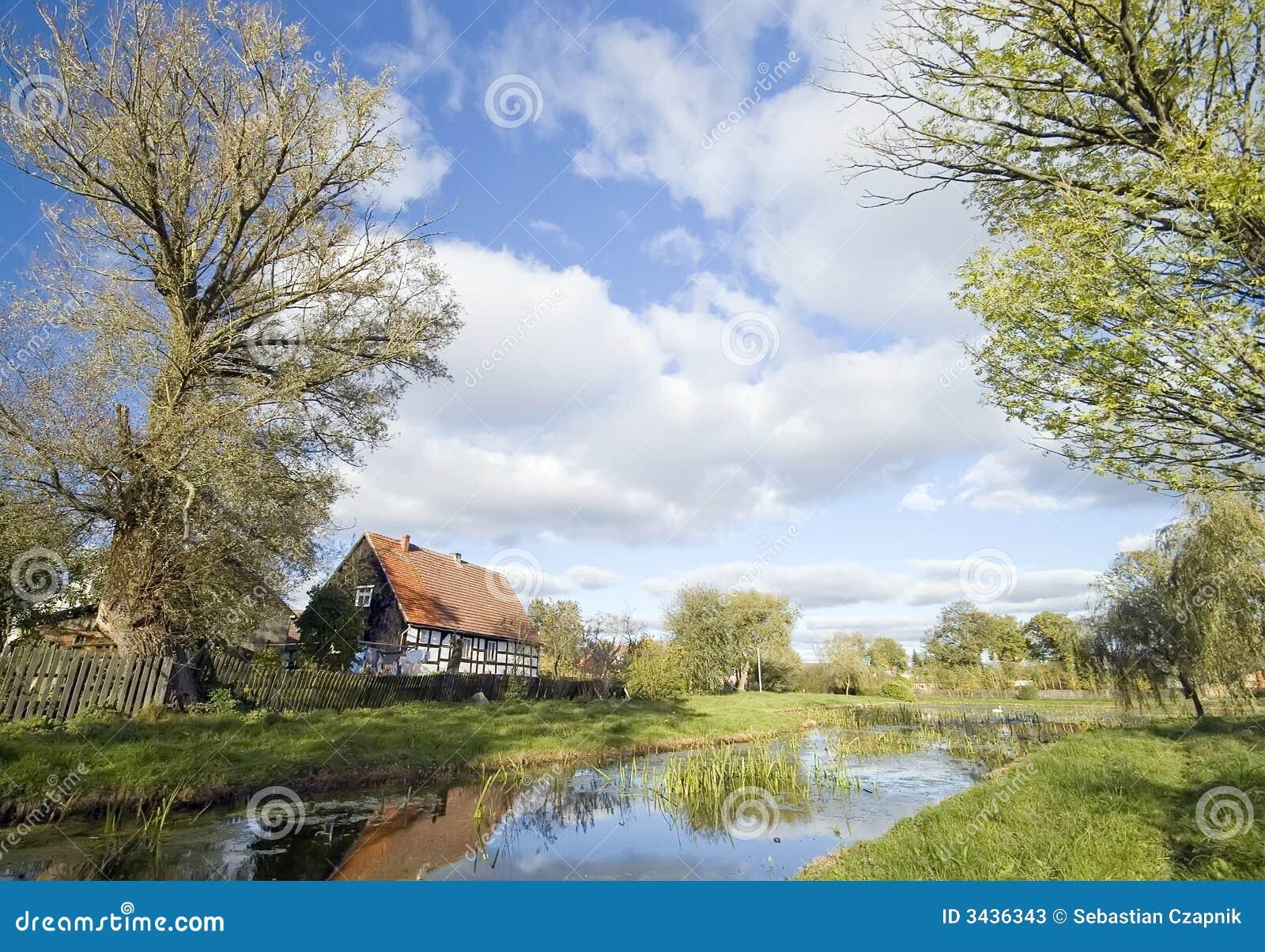 Village polonais rétro.