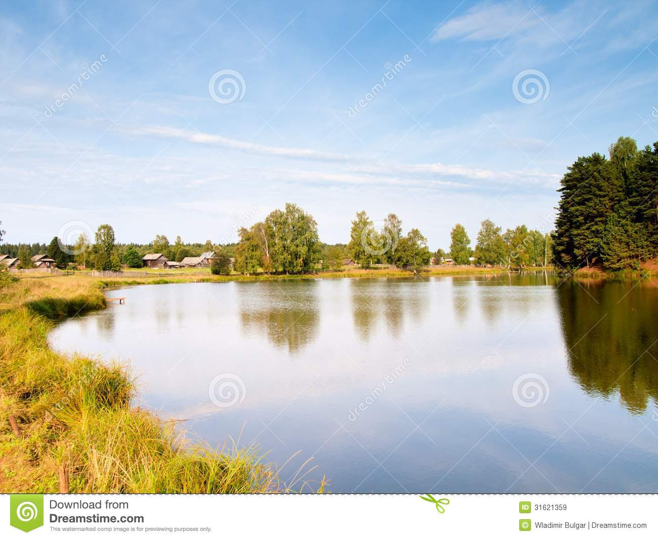 Village Pond Royalty Free Stock Images Image 31621359