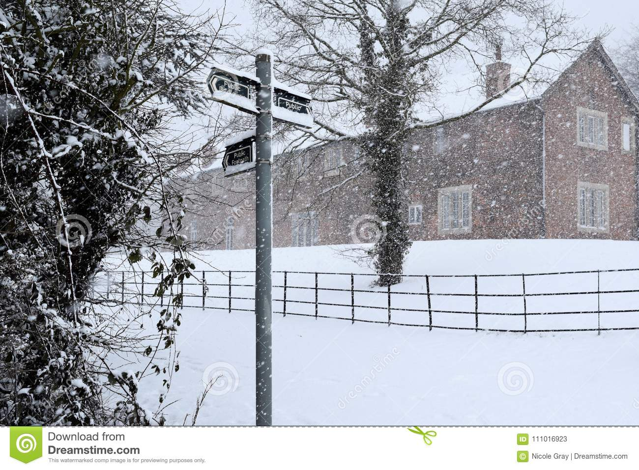 Village in the snow