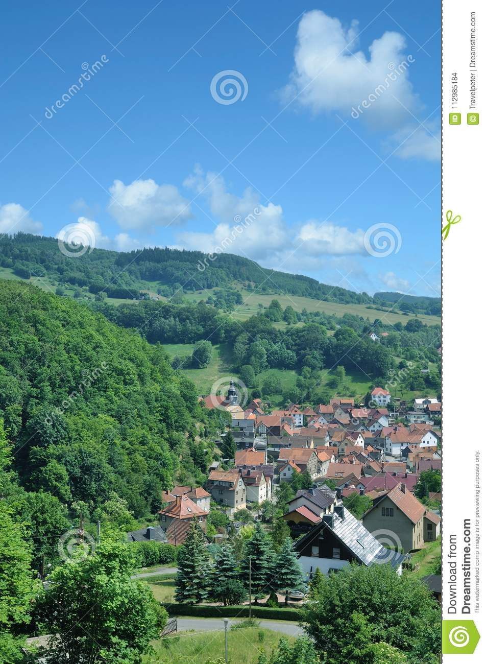 Steinbach in thuringian Forest,Thuringia,Germany