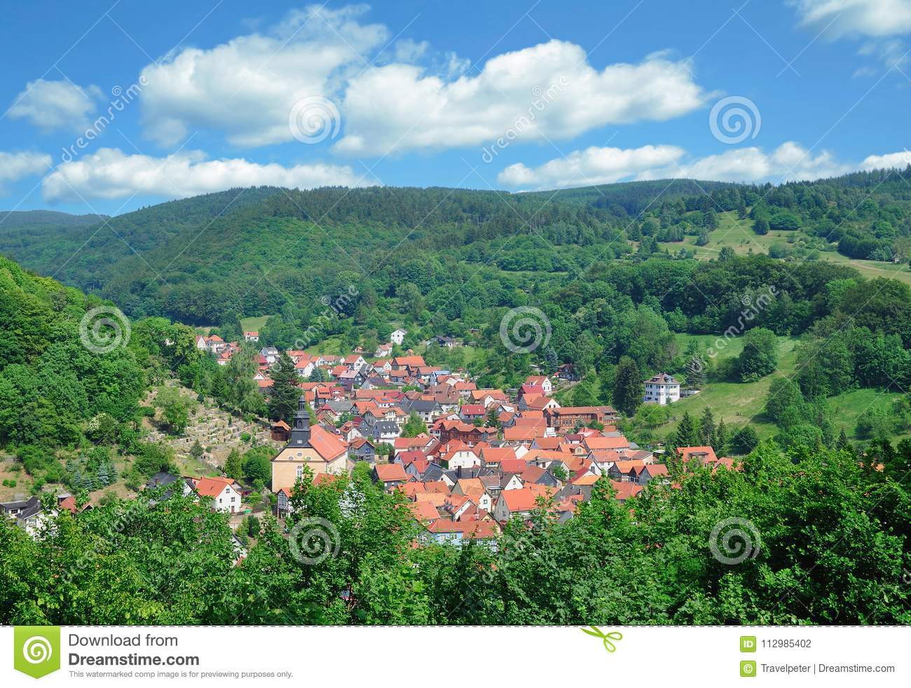 Village of Steinbach,thuringian Forest,Thuringia,Germany