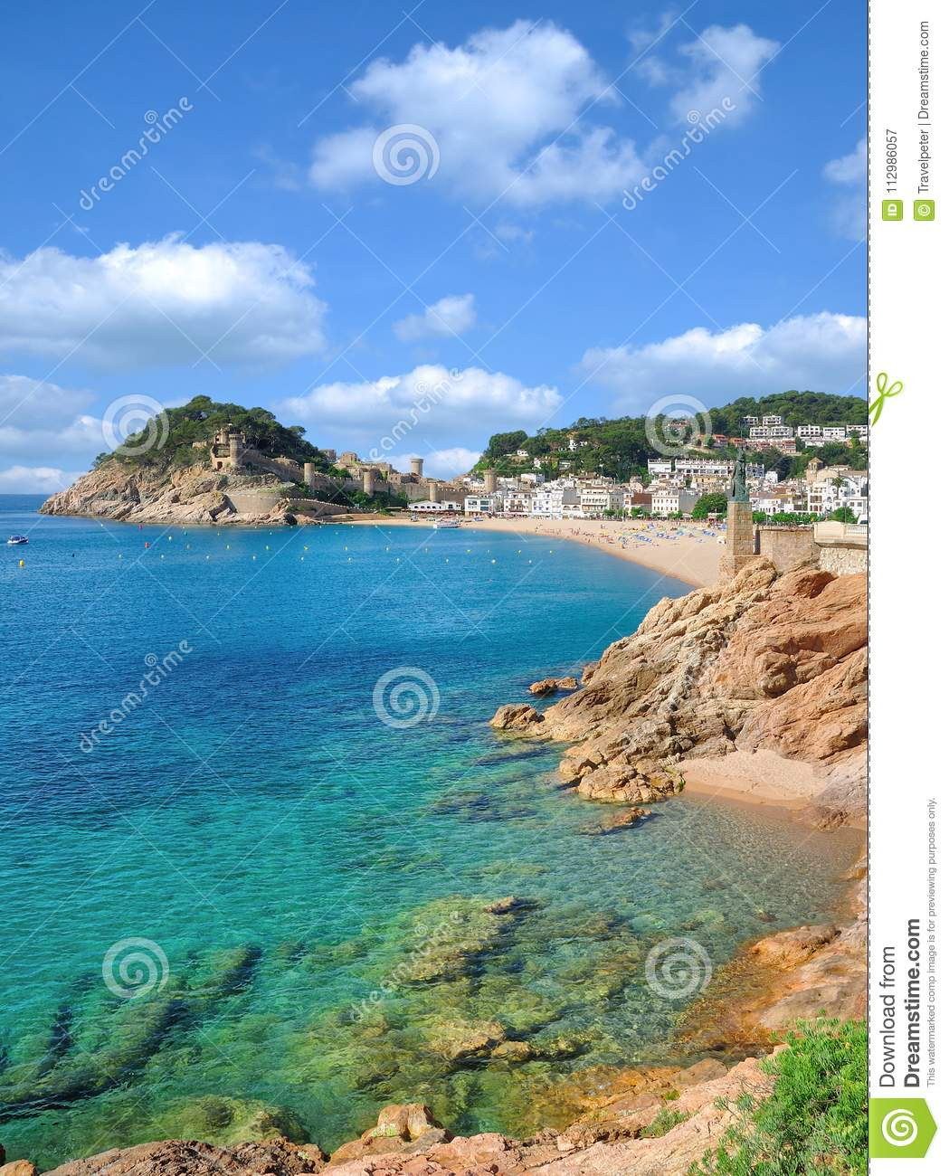 Village of Tossa de Mar,Costa Brava,Catalonia,Spain