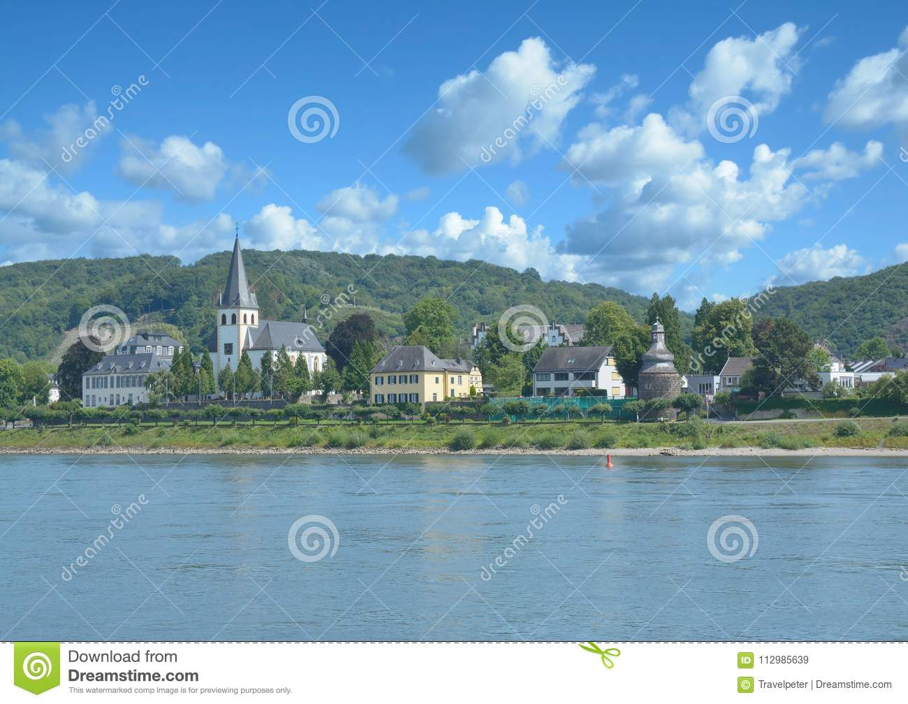 Village of Unkel,Rhine River,Rhineland-Palatinate,Germany