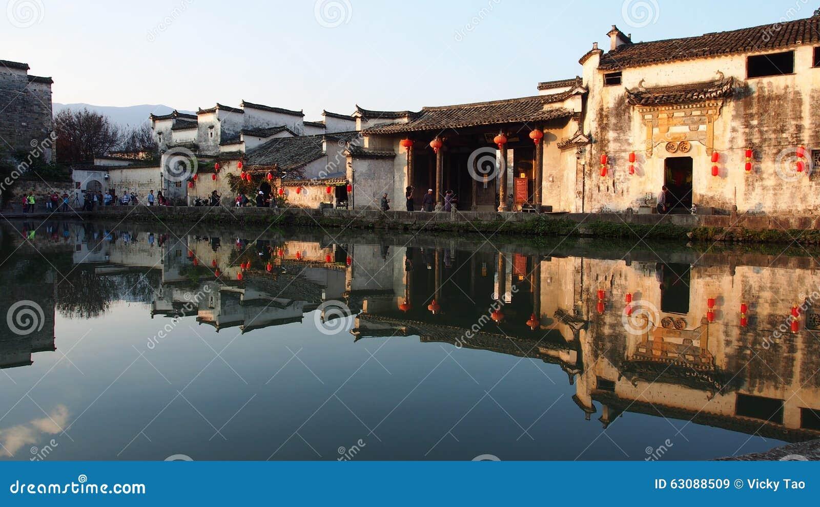 Download Villages Antiques De Hongcun Image stock éditorial - Image du dragon, méridional: 63088509