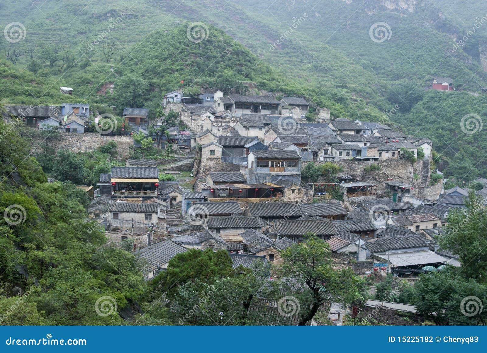 Villaggio antico cinese fotografia stock immagine 15225182 for Casa tradizionale cinese