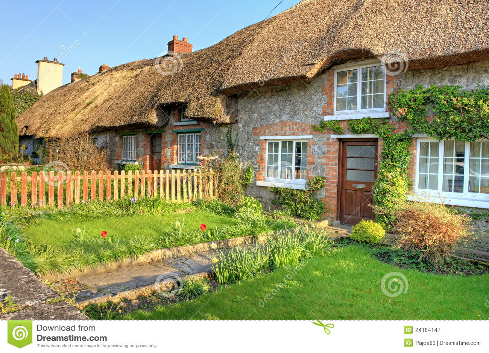 villaggio di adare casa tradizionale irlandese del