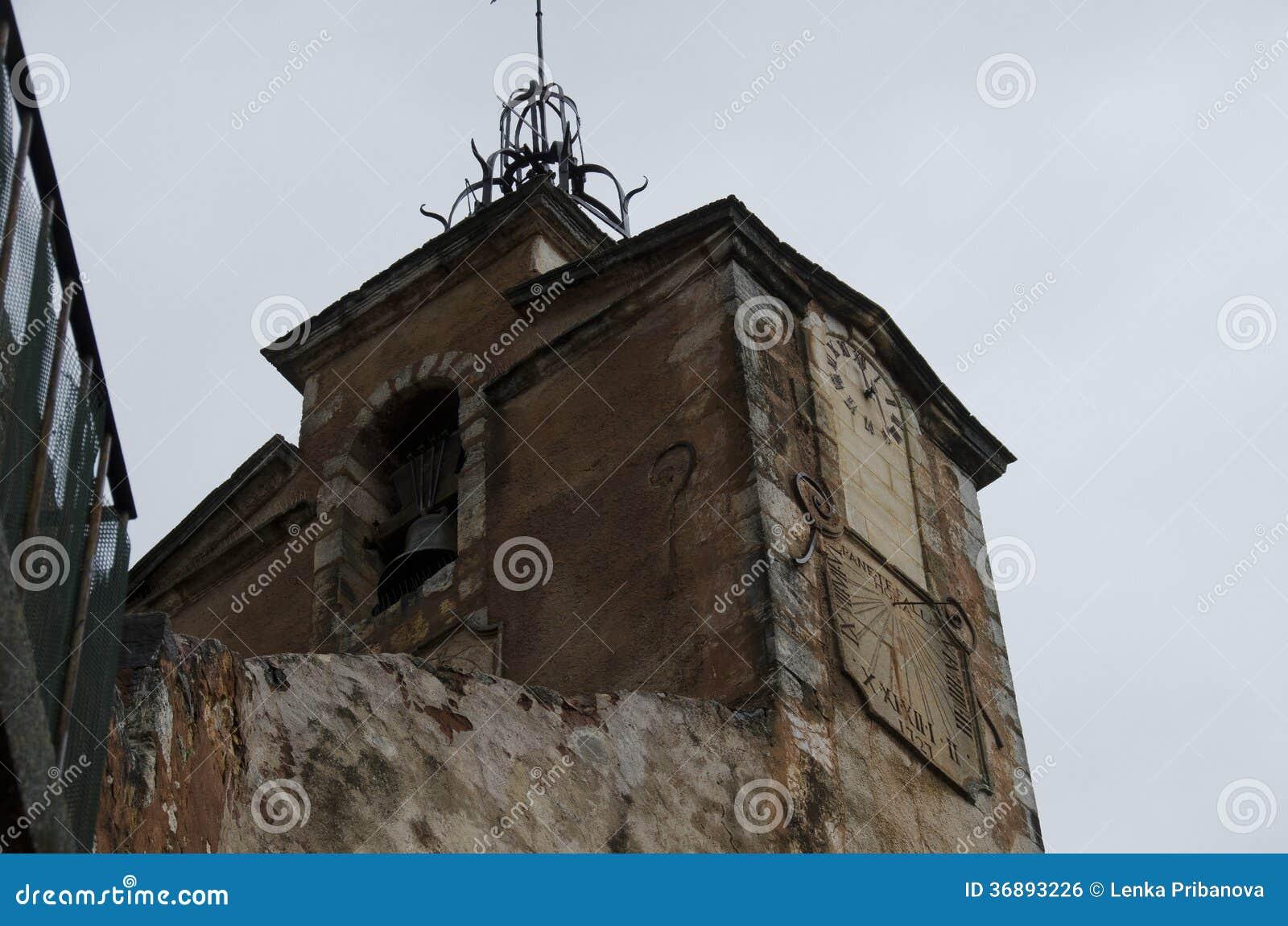 Download Villaggio Rosso, Area Dell'arenaria In Rousillon, Francia Del Sud, Europa Fotografia Stock - Immagine di portello, scale: 36893226