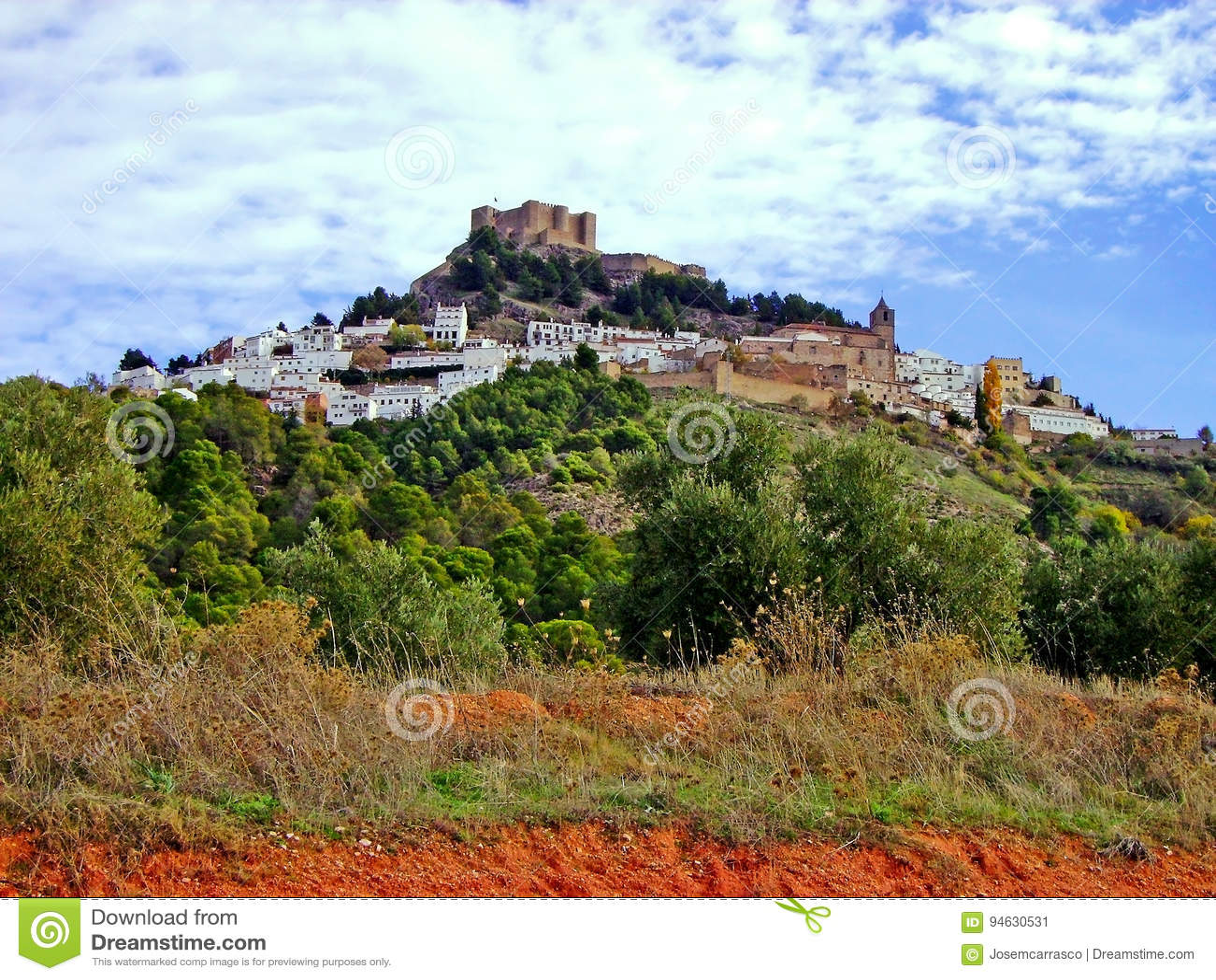 Villaggio Segura de la Sierra, Jaen andalusia spain