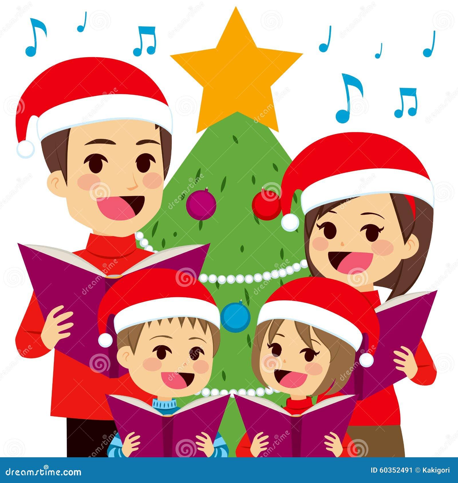 villancicos de la navidad del canto de la familia christmas carolers clipart free christmas carolers clipart