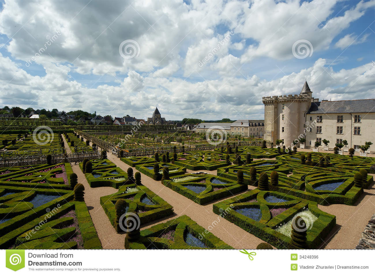 Villandry Chateau And Its Garden, Loire Valley, France Stock Photo ...