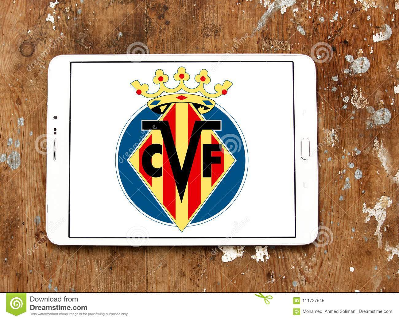 Villarreal CF Soccer Club Logo Editorial Image - Image of