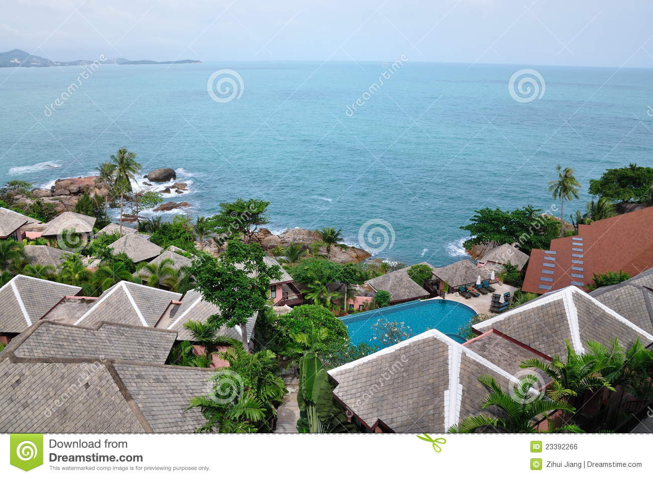 Villas By The Sea Royalty Free Stock Image Image 23392266