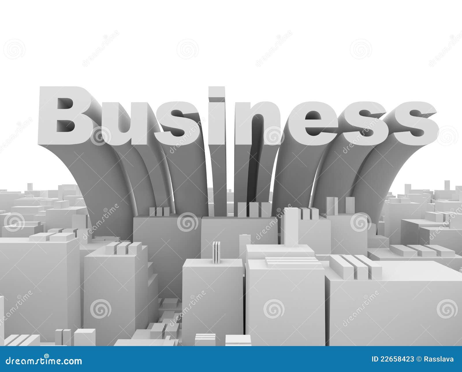 Ville abstraite d affaires