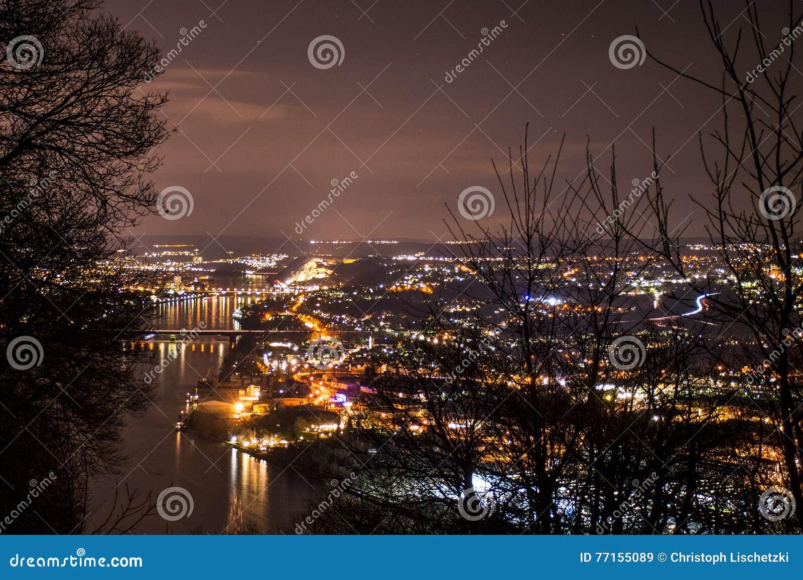Ville Allemagne de Coblence avec l histoire 2 de ville historique