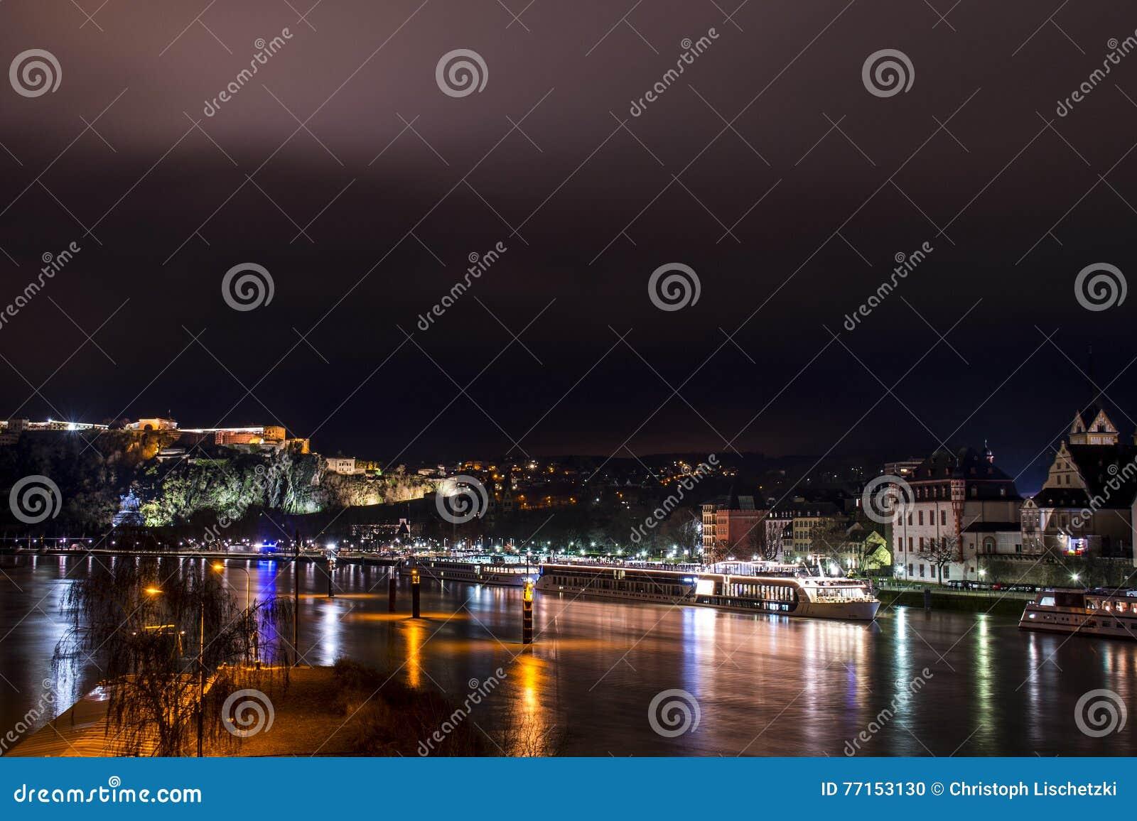 Ville Allemagne de Coblence avec le coin allemand historique 2