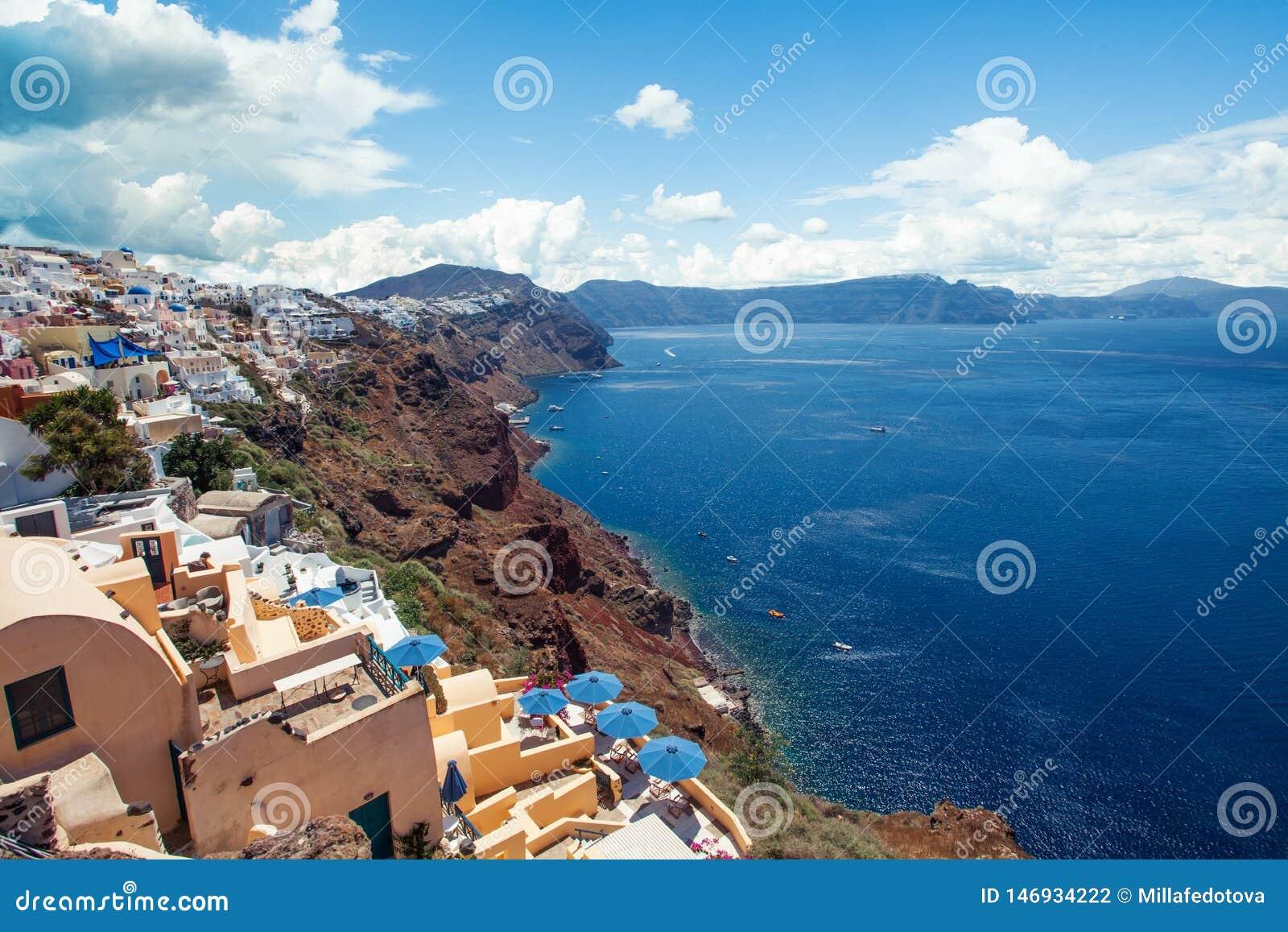 Ville d Oia sur l ?le de Santorini, Gr?ce