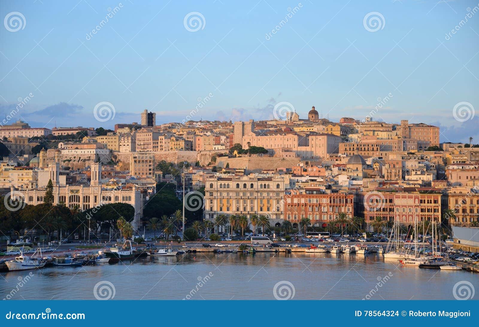 Ville de Cagliari, Sardaigne, Italie