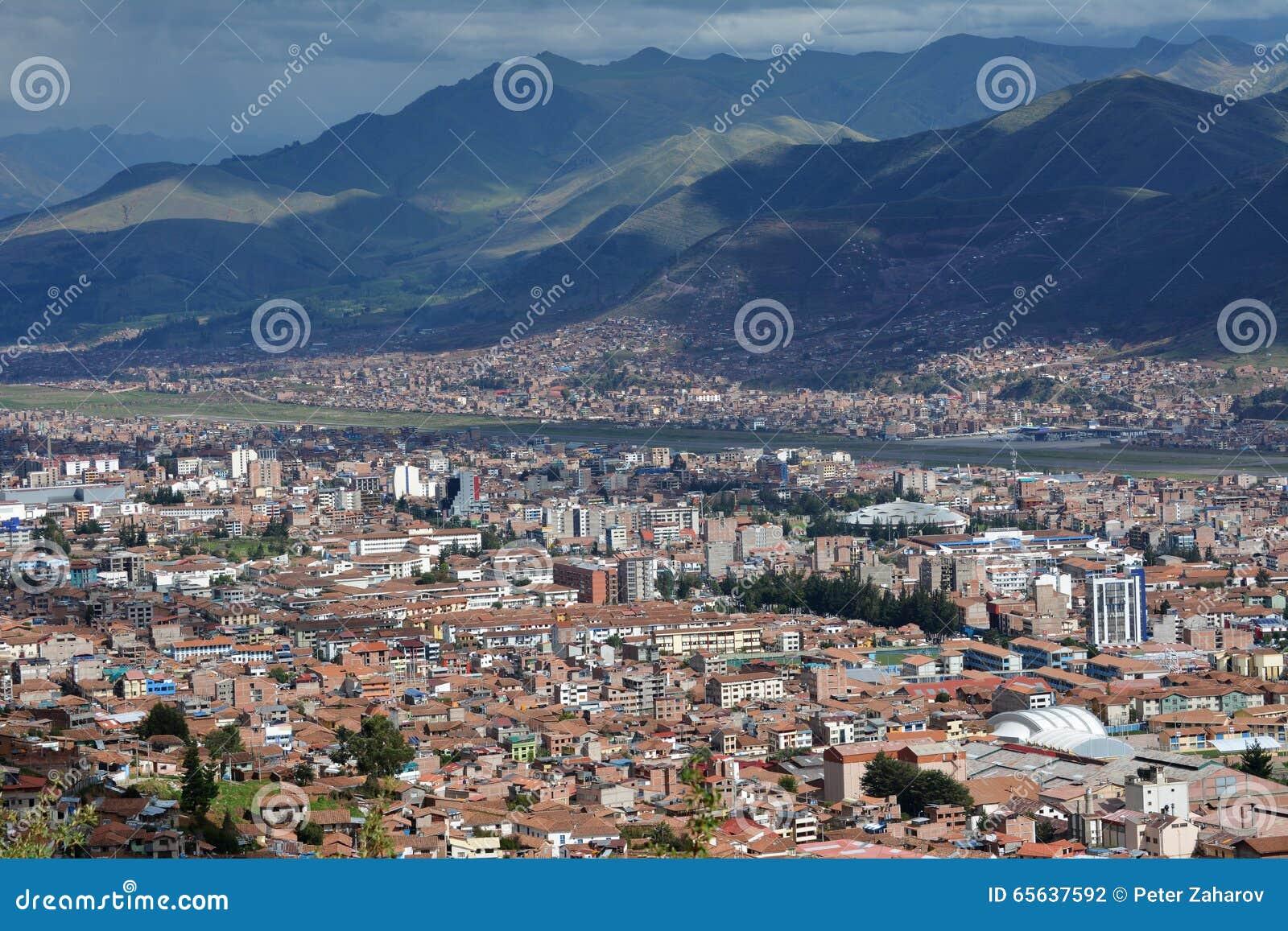 Ville de Cuzco au Pérou, Amérique du Sud