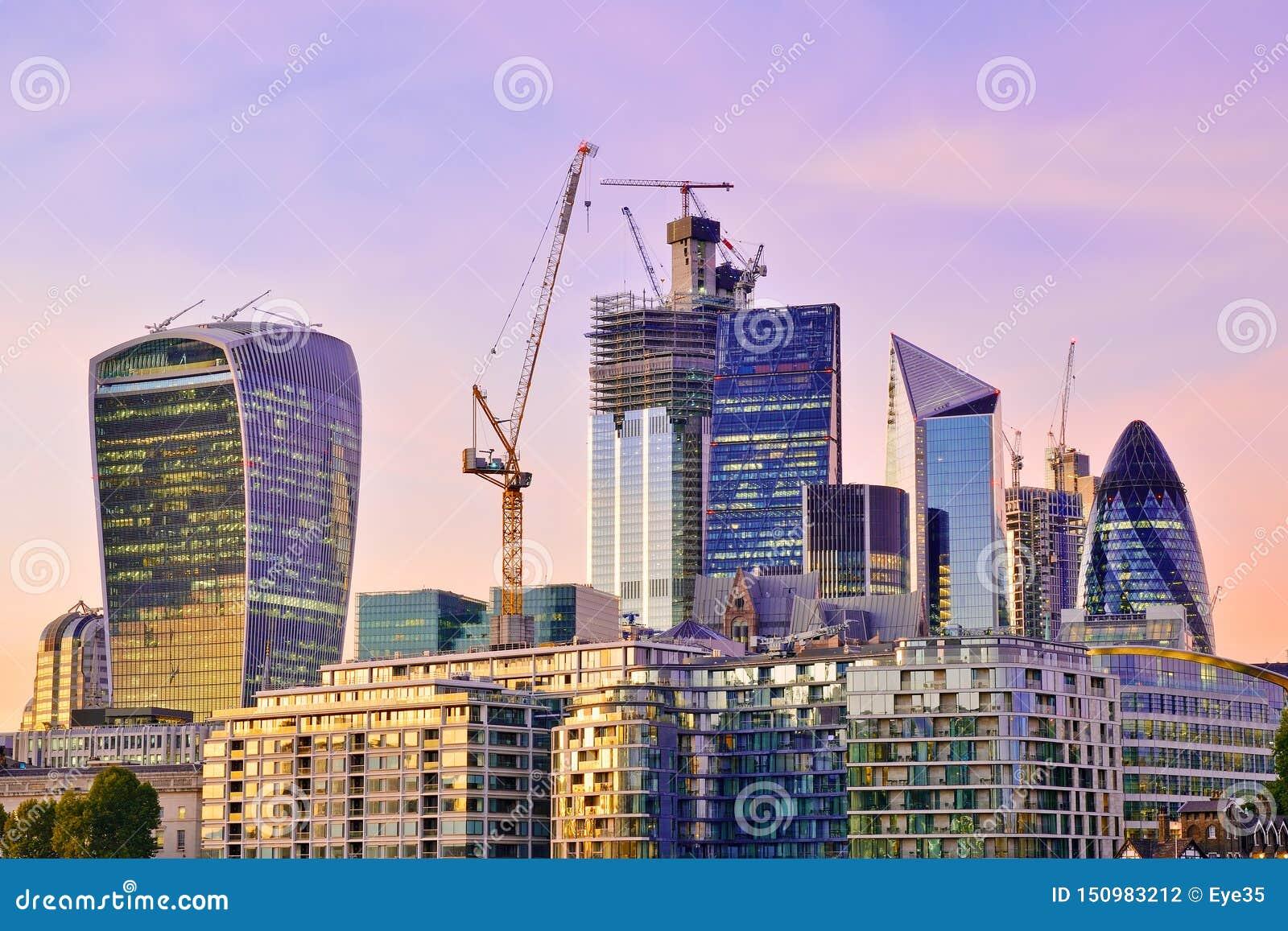 Ville de district financier de Londres