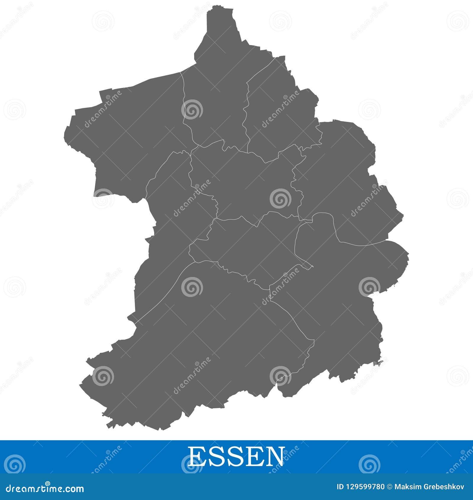 Ville de haute qualité de carte de l Allemagne