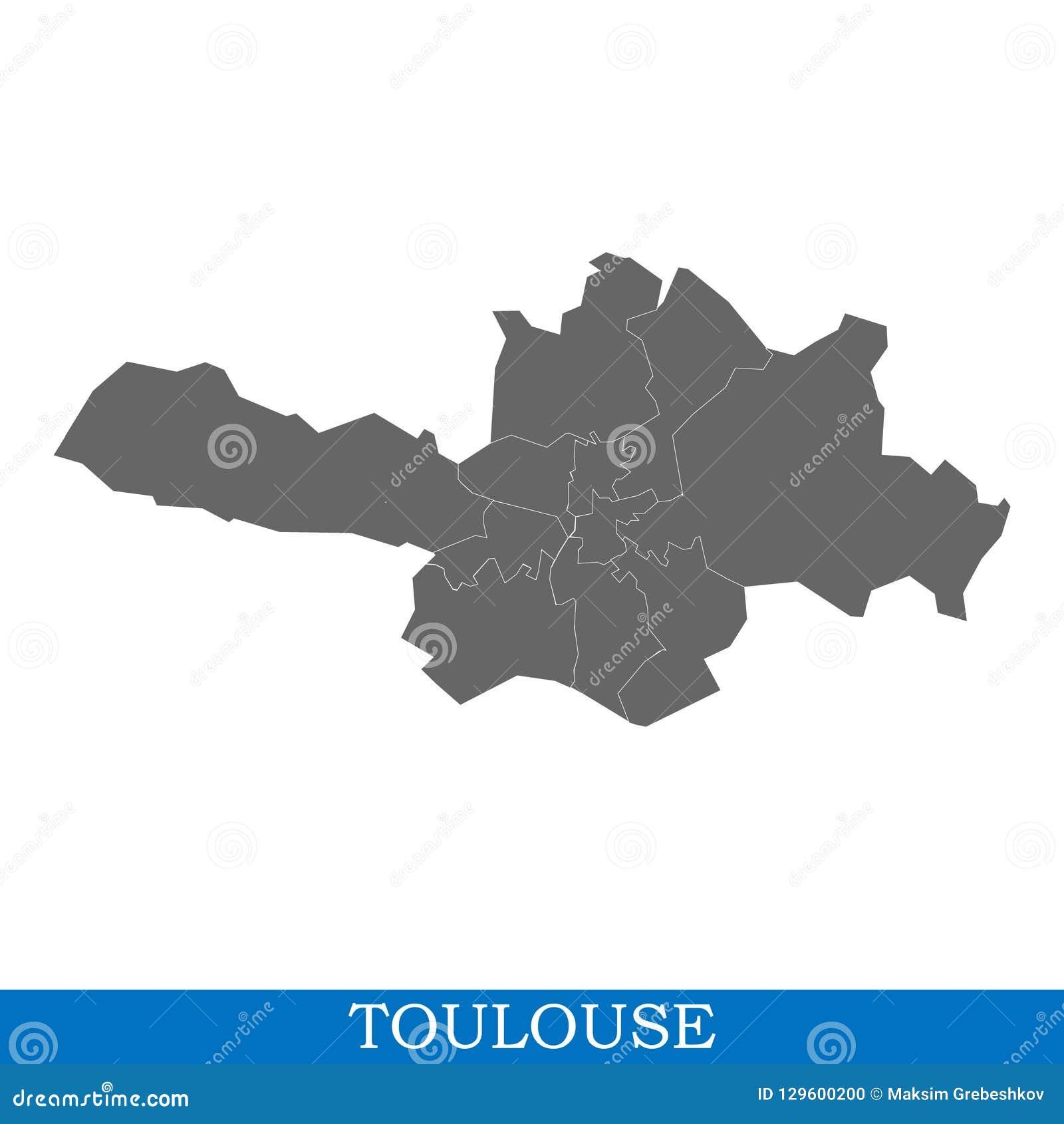 Ville De Haute Qualité De Carte De La France Illustration