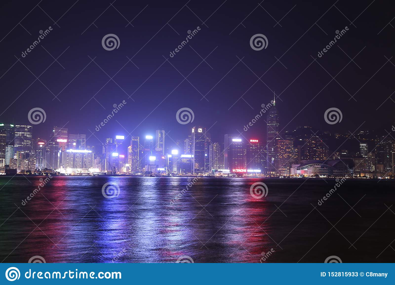 Ville de Hong Kong la nuit