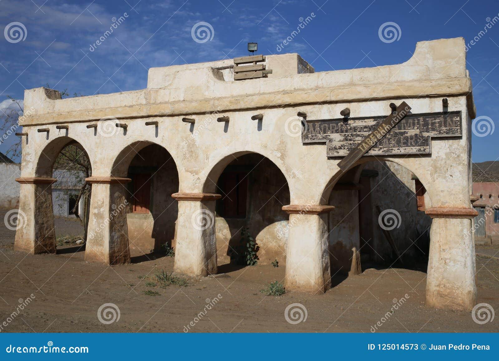 Ville de l Américain occidental dans le bravo Almeria Andalusia de fort
