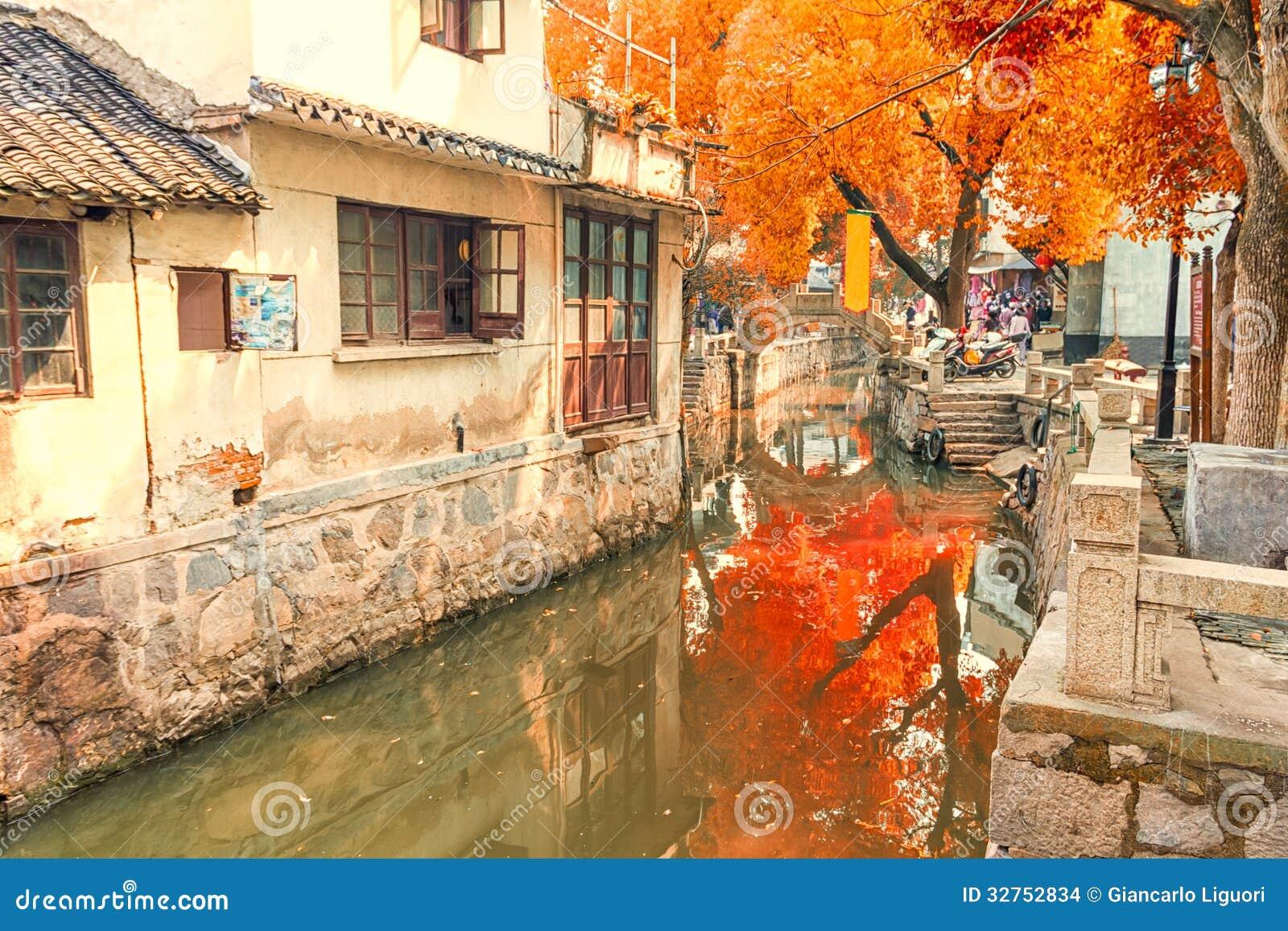 Ville de l eau de Luzhi, Chine