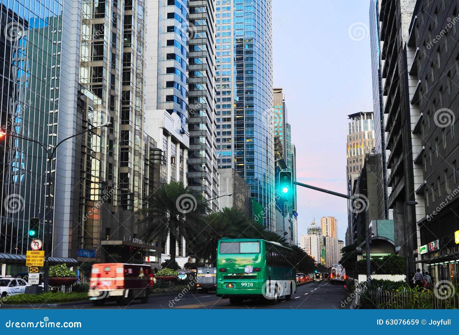 Download Ville De Makati, Le Centre Ville De Manille Image stock éditorial - Image du serré, construit: 63076659