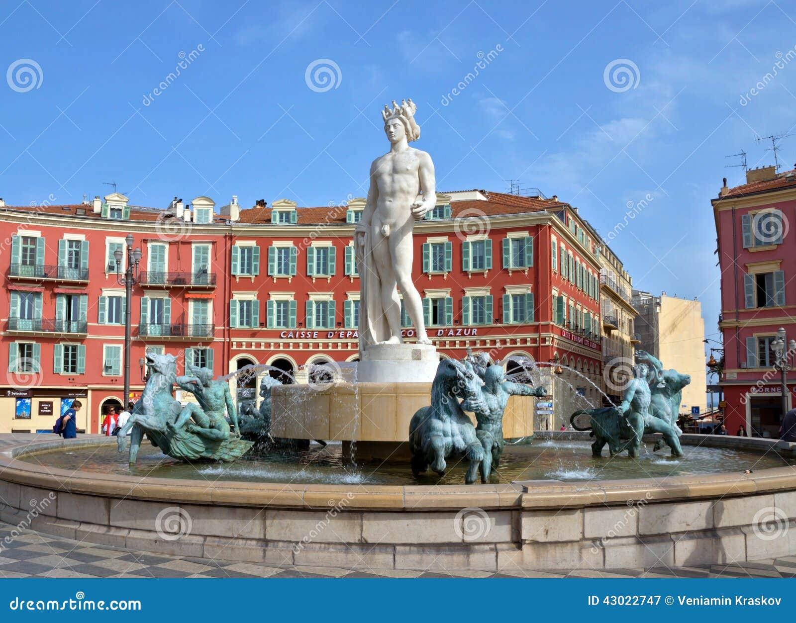 Ville de nice fontaine soleil photographie ditorial for Piscine du soleil nice