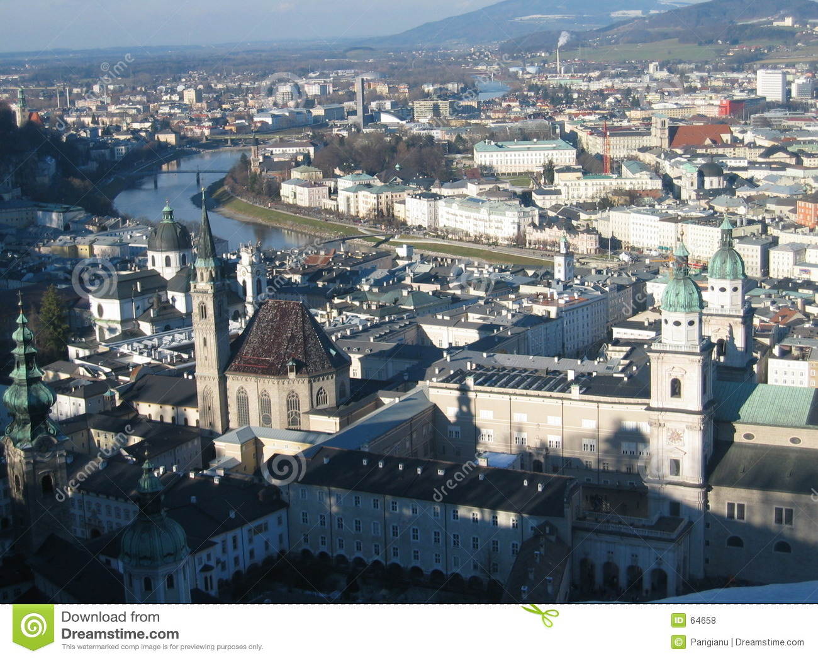 Download Ville de Salzbourg photo stock. Image du urbain, histoire - 64658
