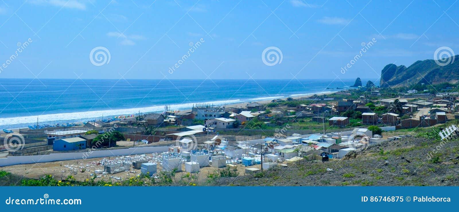 Ville de San Lorenzo, près de ville de Manta, l Equateur