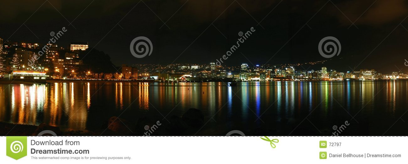 Ville de Wellington par Night - la Nouvelle Zélande