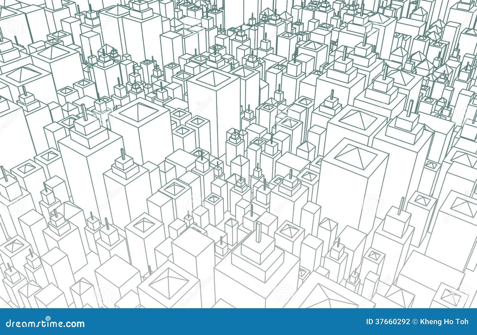 Ville de Wireframe