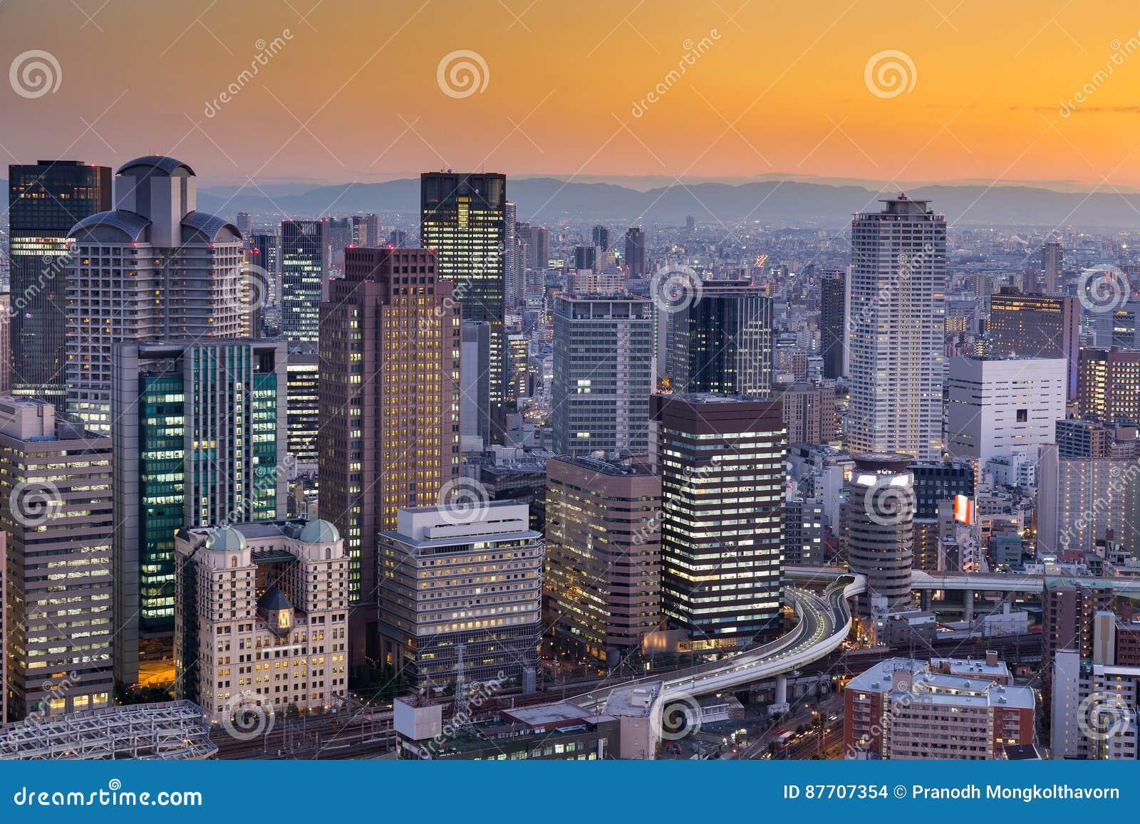 Ville des affaires centrales d Osaka du centre