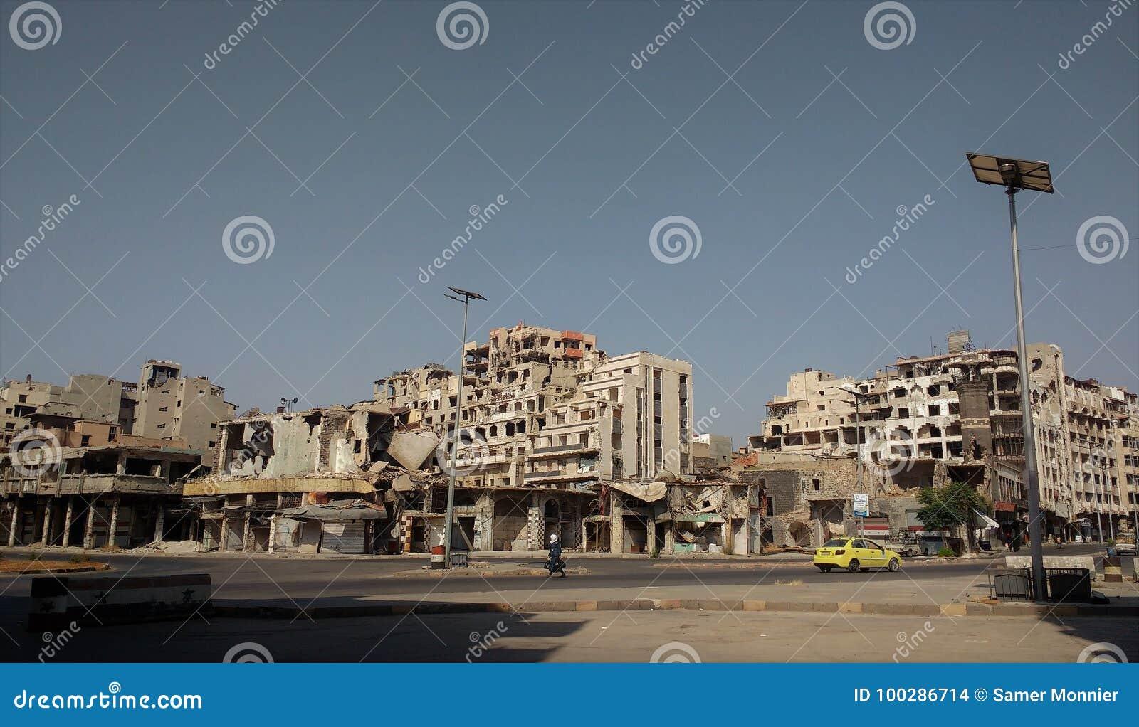 Ville des homs après guerre