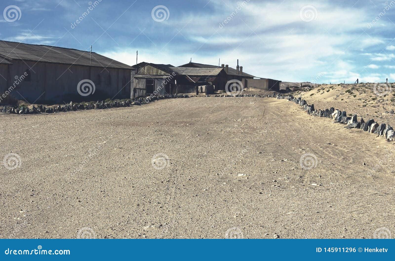 Ville fant?me - Kolmanskop - la plupart de ville fant?me populaire en Namibie