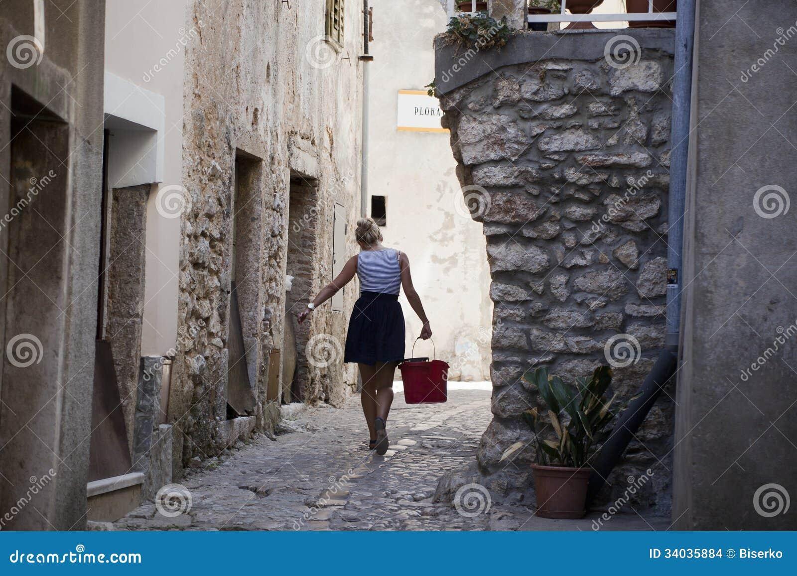 Ville méditerranéenne Vrbnik sur la Mer Adriatique