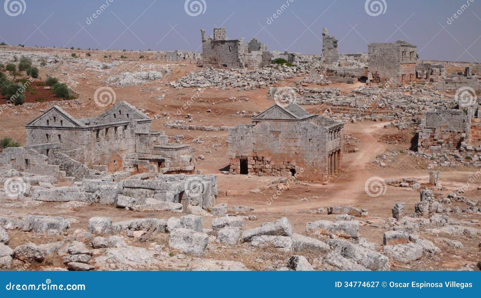 Ville morte de Serjilla. Syrie